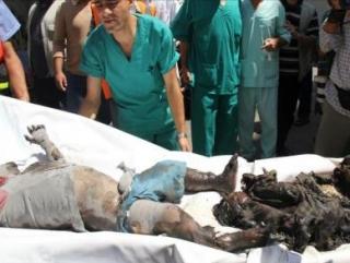 В результате израильской бомбардировки Газы