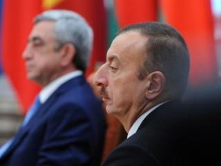 Президенты Армении и Азербайджана - Серж Саргсян и Ильхам Алиев