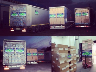 Грузовики доставили генераторы, медикаменты и расходные материалы