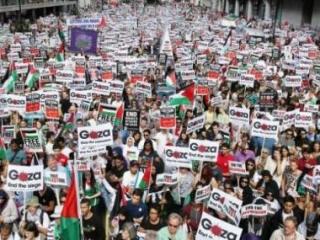 В Лондоне прошли невиданные по масштабам акции в поддержку Газы