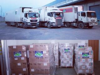 Грузовики с гуманитарной помощью прибыли в ЛНР из Чечни (Фото: страница Кадырова в соцсети)