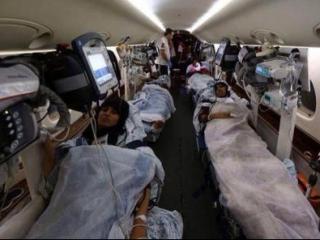 Первая группа раненых жителей Газы вылетела в Турцию для прохождения лечения