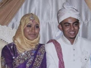 Покойный Коушар Хуссейн в день своей свадьбы