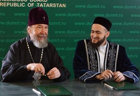 Митрополит Анастасий и муфтий Камиль Самигуллин