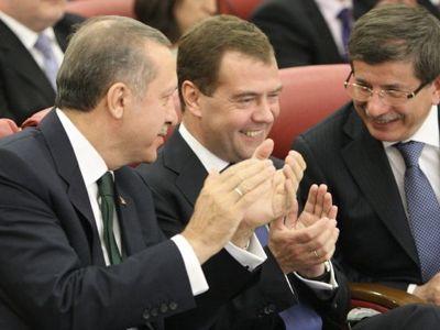 Реджеп Тайип Эрдоган, Дмитрий Медведев и   Ахмет Давутоглу