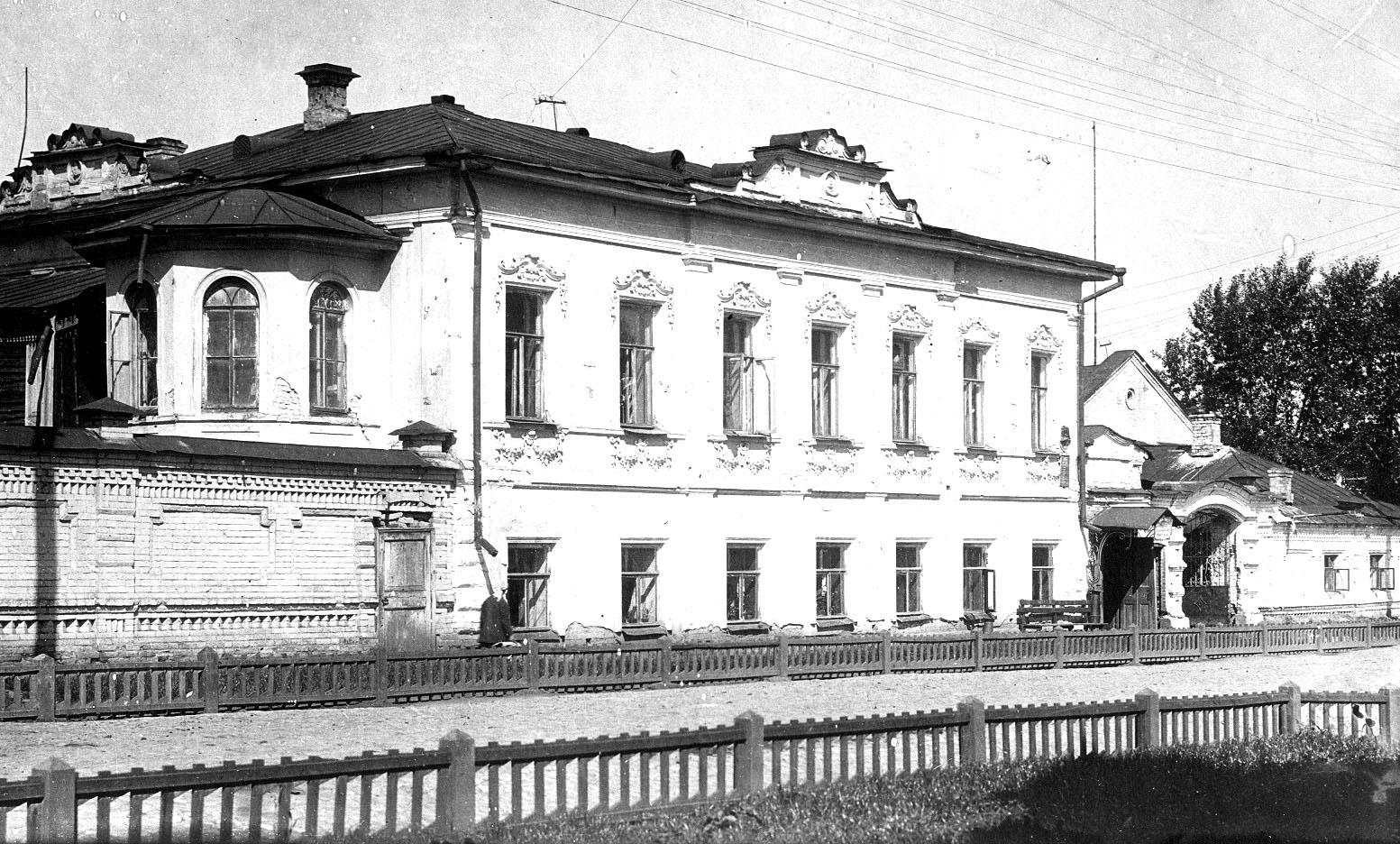 Историческое здание по адресу Шейнкмана 18. Фотография 1920 года.    ,
