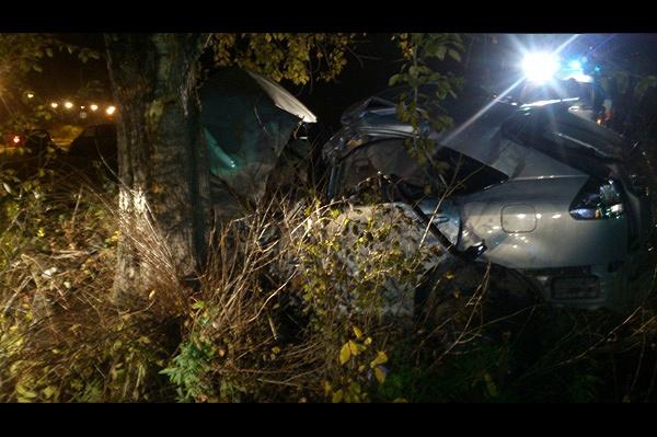 Фото с места аварии, в которой погиб медик (Источник: пролесной.рф)