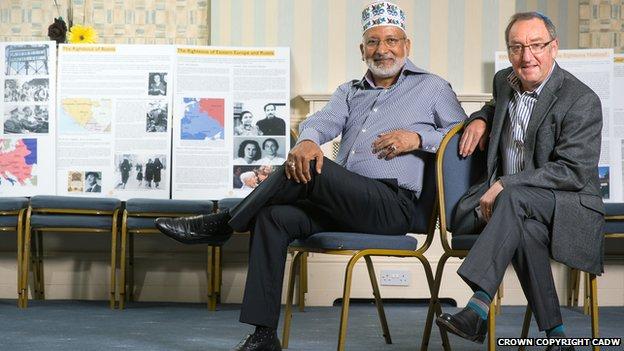 Мусульманский и иудейский деятели, организовавшие выставку