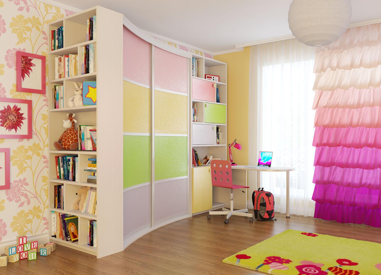 Шкафы в детскую комнату фото
