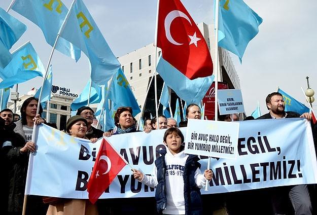 Крымские татары выразили свой протест в Турции