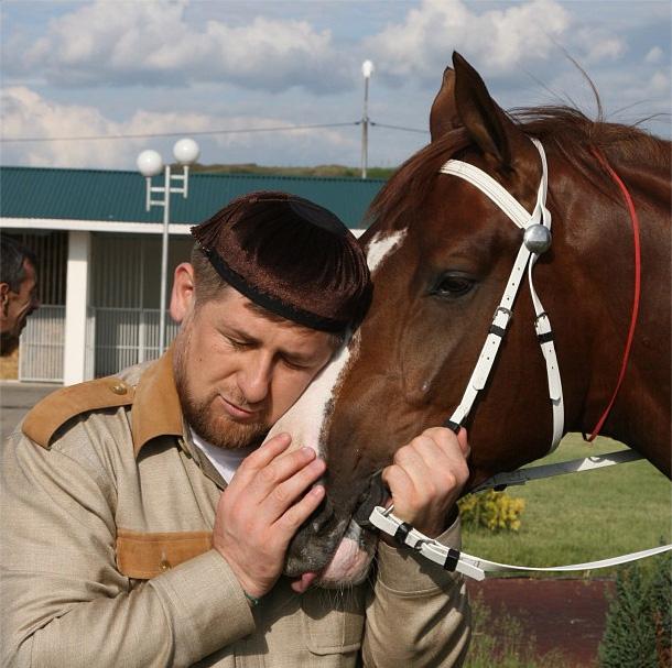 Рамзан Кадыров со своим скакуном