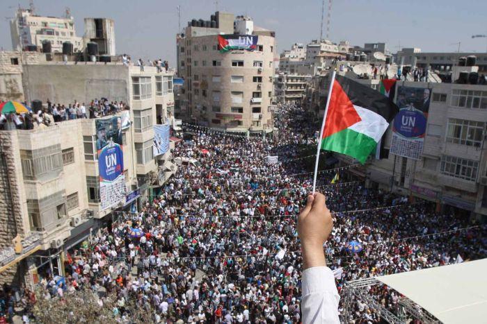 Демонстрация в поддержку Палестинского государства
