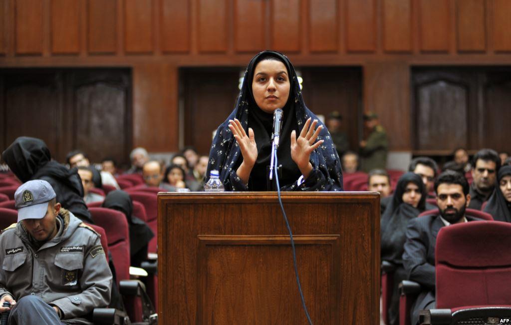 Выступление Рейхане Джаббари в суде в 2008г.