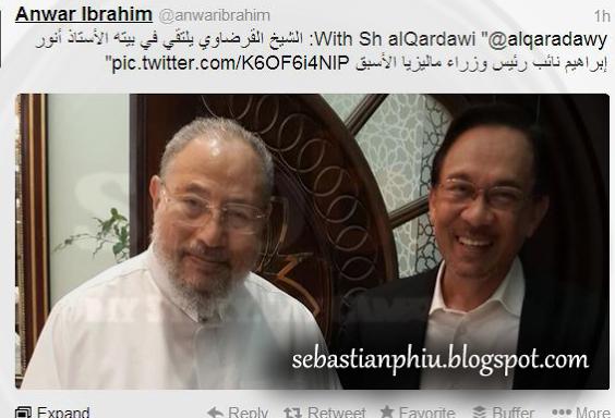 Шейх аль-Кардави считает Анвара Ибрагима невиновным в содомии