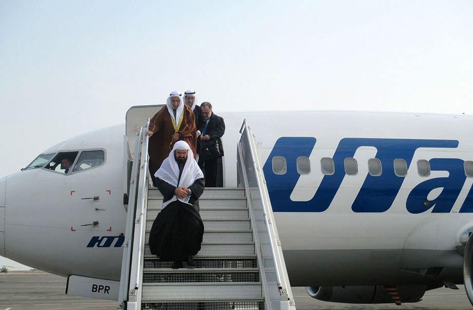 Делегация улемов прилетела в Россию