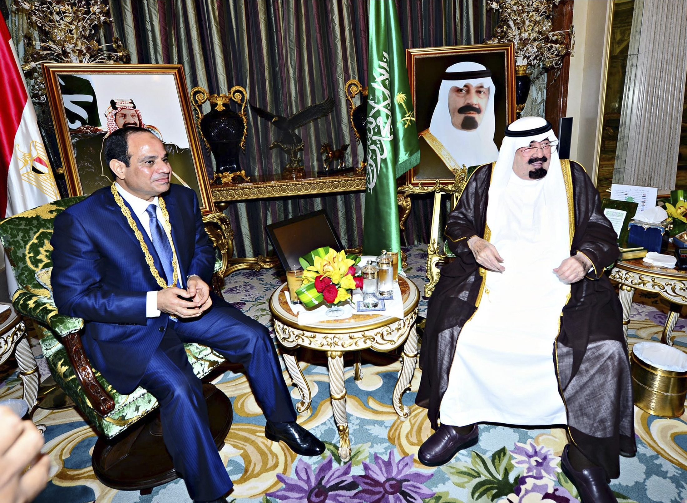 Президент Египта Абдель Фаттах Ас-Сиси и король Саудовской Аравии Абдалла (Фото: Reuters)