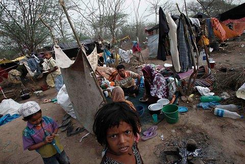 Беженцы рохинья в лагере