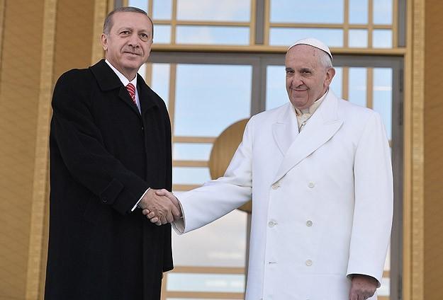 Встреча Папы Римского Франциска с президентом Турции Реджепом Тайип Эрдоганом