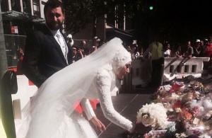 Возложившая цветы к «Линдт» невеста в хиджабе восхитила австралийцев