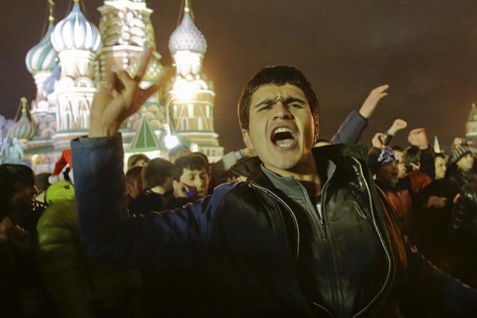 Многие трудовые мигранты предпочитают  проводить выходные дни на Красной площади