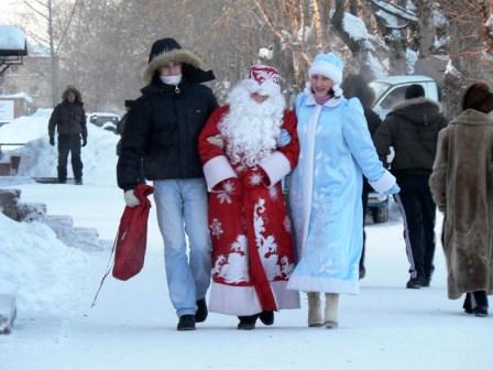 Трудные будни Деда Мороза