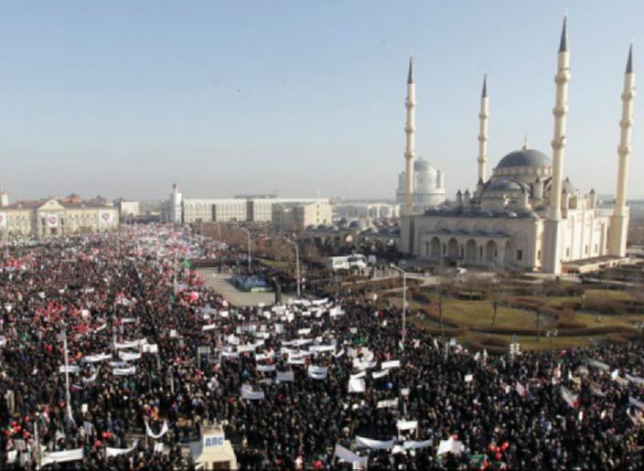 Марш в защиту Пророка в Грозном побил все рекорды