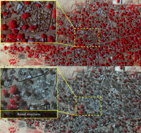 Снимки со спутника показали шокирующий масштаб зверствБоко Харам в Нигерии