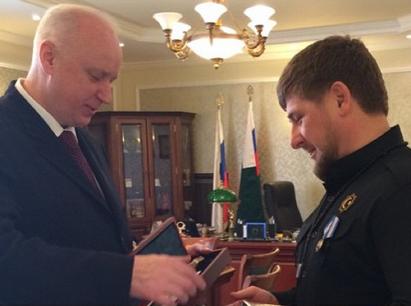 Кадыров получил медаль за отвагу от главы Следственного комитета