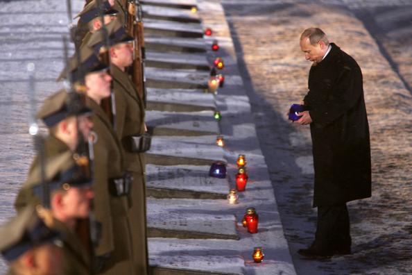 Путин в Освенциме в 2005 году