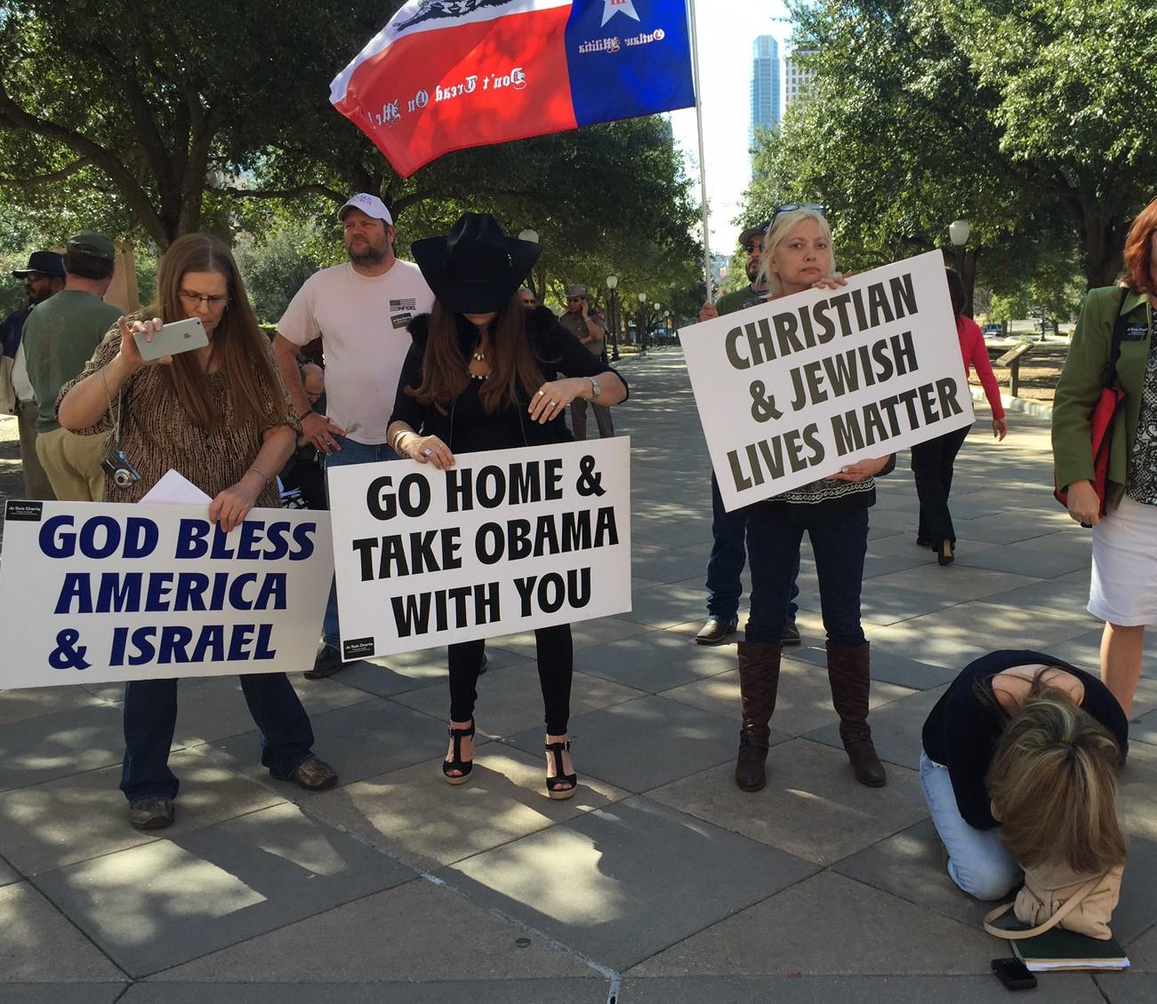 Христианские активисты мусульманам: «Уезжайте к себе и забирайте Обаму!»