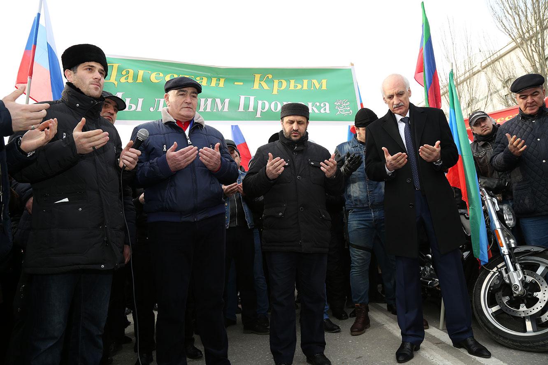 Участники автопробега (Фото: Islamdag.ru)