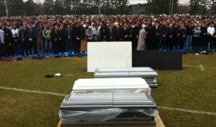 Джаназа по убиенным мусульманам в США