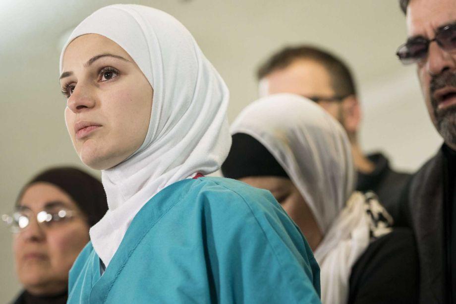 Сестра убитого мусульманина