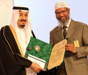 Закир Наик получил награду от короля Саудовской Аравии