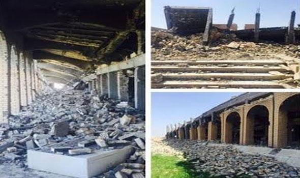 От некогда помпезного мавзолея Саддама Хуссейна остались одни колонны