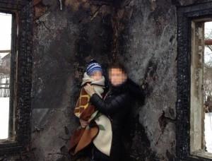 СРОЧНО: Сгорел дом у мусульманки с ребенком, брошенной мужем-сирийцем