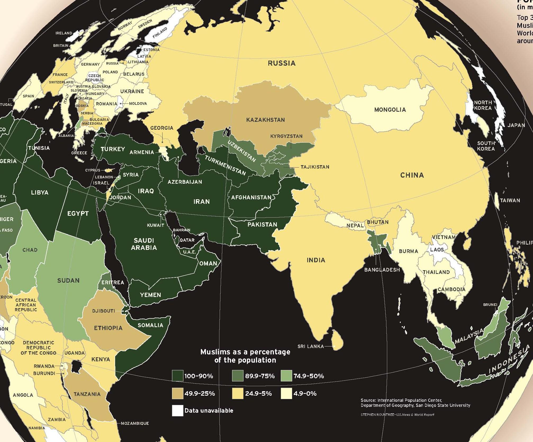 Сколько всего мусульман в мире