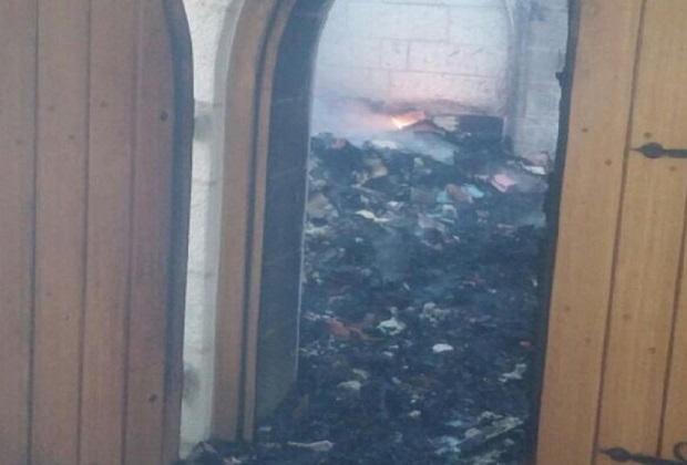Израильтяне сожгли православную церковь