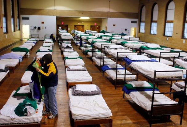 Приют для бездомных в США