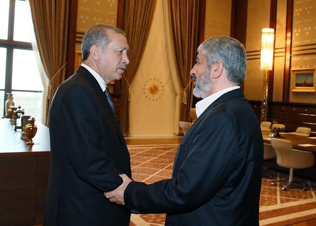 Президент Турции и глава политбюро движения ХАМАС