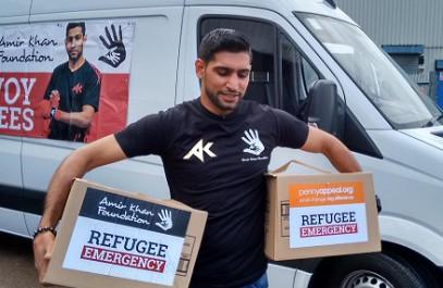 Боксер-мусульманин отправил к беженцам гуманитарный конвой