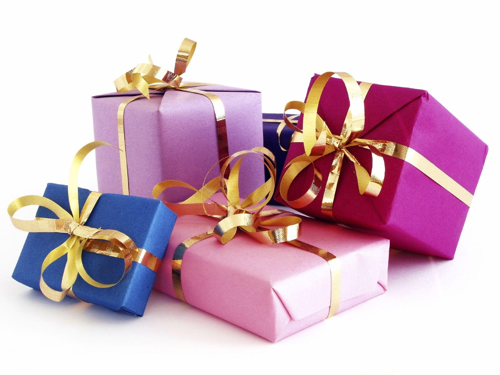 Открытка с подарками