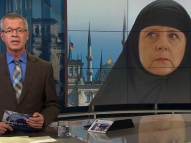 Фото Ангелы Меркель в хиджабе вызвало скандал