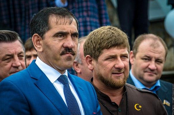 Главы Ингушетии и Чечни Юнус-Бек Евкуров и Рамзан Кадыров