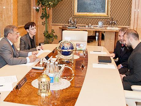 Футболист «Рубина» попросил благословения у президента Татарстана на строительство мечети