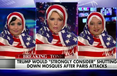 Мусульманка с флагом на голове показала «стальные яйца» (ВИДЕО)