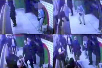 Японский старец швырнул мусульманку под поезд (ВИДЕО)