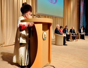 Один из гостей курултая - председатель ЦДУМ Талгат Таджуддин
