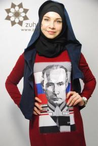Хиджаб с Путиным вызвал ажиотаж у российских мусульманок (ВИДЕО)