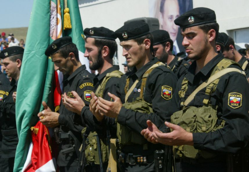 Сотрудники чеченской полиции